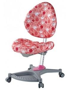 Кресло Mealux Y-136 PK серебристый металл / обивка розовая с шариками