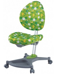 Кресло Mealux Y-136 ZK серебристый металл / обивка зеленая с шариками