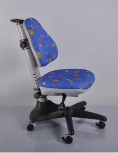 Кресло Mealux Y-317 BB обивка синяя с жучками