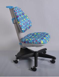 Кресло Mealux Y-317 BN обивка голубая со зверятами