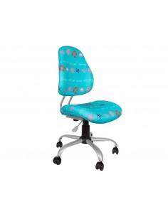 Кресло  EVO  Y-510 BH  обивка синяя с рисунком