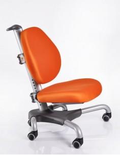 Кресло Mealux Y-517 SKY серебристый металл / обивка оранжевая однотонная