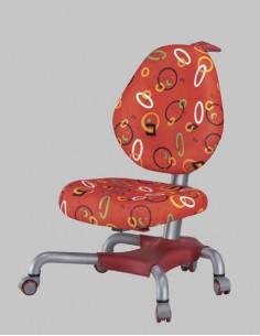 Кресло Mealux Y-517 SR серебристый металл / обивка красная с кольцами