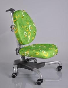 Кресло Mealux  Y-517 SZ серебристый металл / обивка зеленая с кольцами