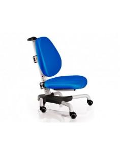 Кресло  Mealux Y-517 WKB белый металл / обивка  синяя однотонная