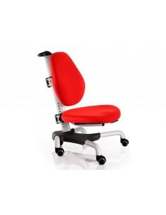 Кресло  Mealux Y-517 WKR белый металл / обивка  красная однотонная