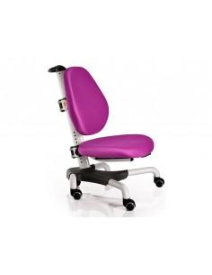 Кресло Mealux Y-517 WKS белый металл / обивка  фиолетовая однотонная