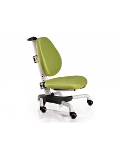 Кресло Mealux Y-517 WKZ белый металл / обивка зеленая однотонная