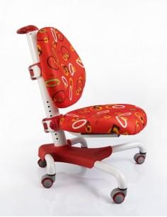 Кресло Mealux Y-517 WR белый металл / обивка красная с кольцами