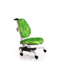 Кресло  Mealux Y-517 WZ белый металл / обивка зеленая с кольцами