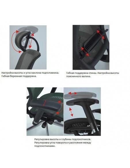 Кресло EXPERT Spark (SR-01) для руководителя, эргономичное, цвет черный