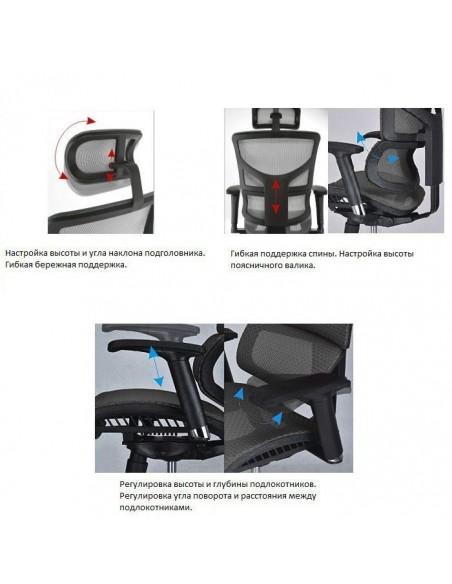 Кресло EXPERT Sail NEW для руководителя, эргономичное, цвет черный
