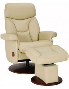 Кресло-реклайнер кожаное с механизмом качания Relax Master