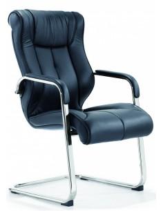 Кресло F341 для посетителя черный цвет