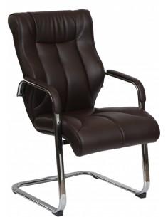 Кресло F341 для посетителя коричневый цвет