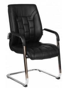 Кресло F340 для посетителя черный цвет