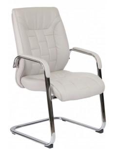 Кресло F340 для посетителя светло-серый цвет
