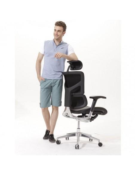 Кресло EXPERT Sail Leather (SAL01-G) для руководителя, эргономичное, цвет черный