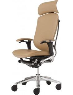 Кресло Okamura Contessa для руководителя кожаное c подголовником