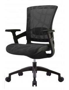 Кресло COMFORT SEATING SKATE (SKTA-W-LAM) для оператора, черный цвет