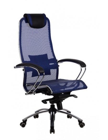 Кресло METTA SAMURAI S1 BLUE для руководителя
