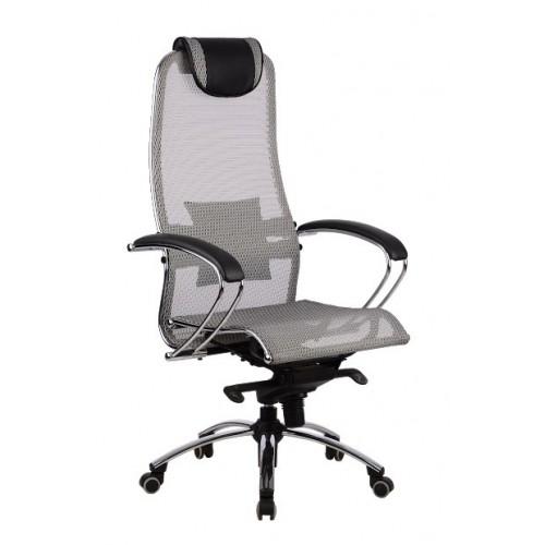 Кресло METTA SAMURAI S1 GREY + BLACK для руководителя
