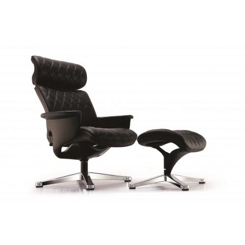 Кресло-реклайнер NUVEM LOUNGE BLACK для дома