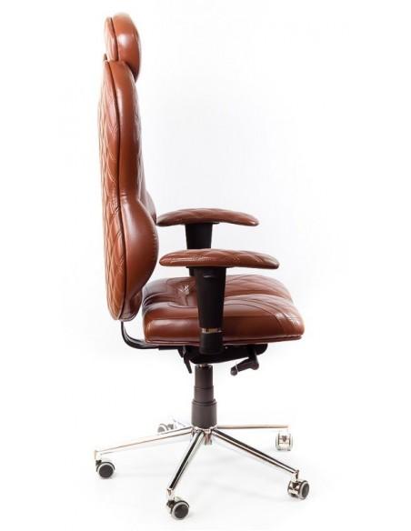 Кресло для руководителя, ортопедическое Kulik-System Grande коричневое