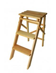 Лесенка складная деревянная, маленькая (62 см)