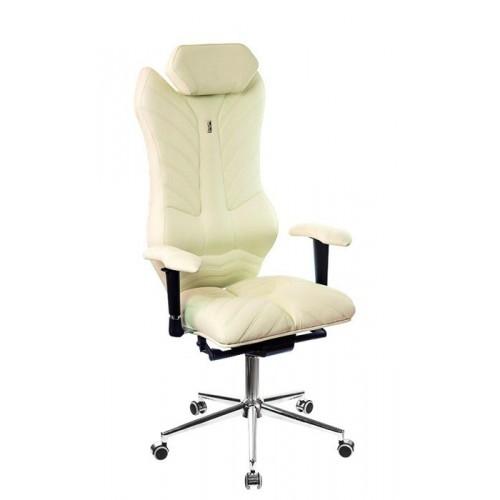 Кресло для руководителя, ортопедическое Kulik-System Monarch белое