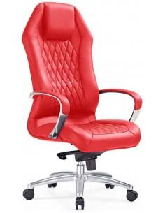Кресло F103 RE для руководителя, красное