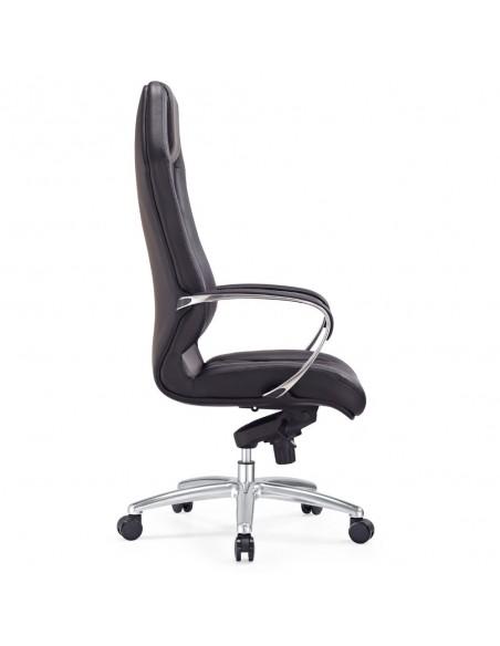 Кресло F103 BL для руководителя, кожаное, черное
