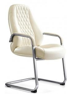 Кресло F385 WE для посетителя, белое
