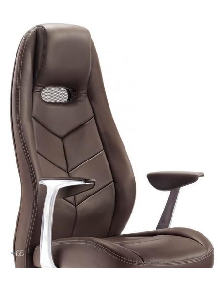 Кресло F102 BRE для руководителя, коричневое