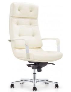 Кресло F133 WL для руководителя, кожаное, белое