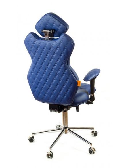 Кресло для руководителя, ортопедическое Kulik-System Royal cинее