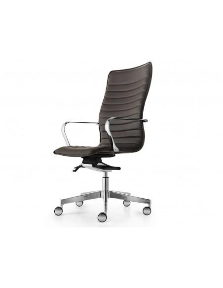 Кресло QUINTI SEDUTE ICE для посетителя, кожаное