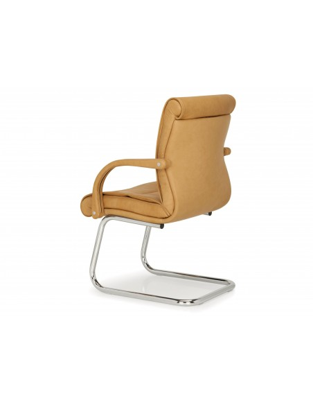 Кресло QUINTI SEDUTE APOLLO для посетителей, кожаное, на полозьях