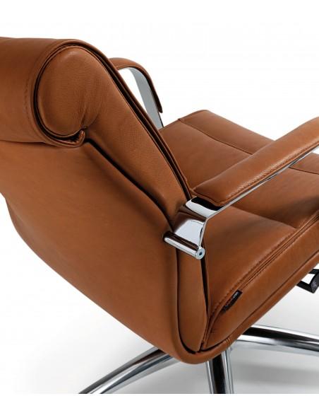 Кресло QUINTI SEDUTE APOLLO для посетителей, кожаное, на колесах