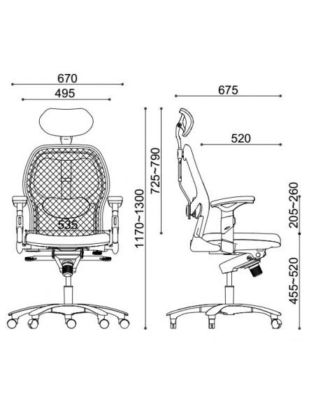 Кресло EAGLE SEATING SATURNO (арт. 0634C-2P5) эргономичное