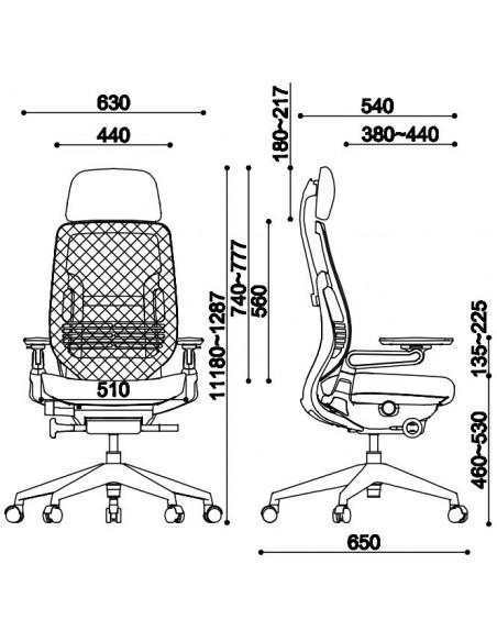 Кресло EAGLE SEATING KARME (арт. 1501B-2HF24-Y) эргономичное, тканевое