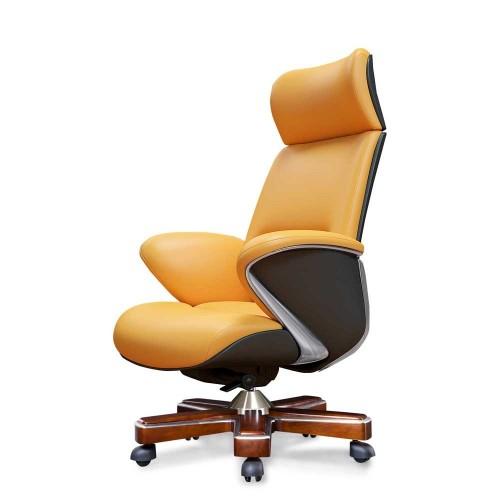Кресло YS-1605A, для руководителя, кожаное