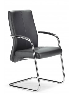Кресло ROVO XL 5410A для посетителя, кожаное