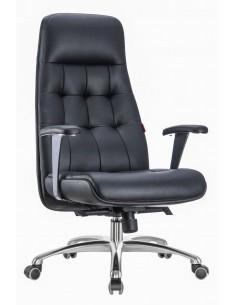Кресло F1617 BL для руководителя, кожаное