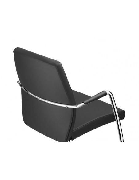 Кресло SITLAND PASSE-PARTOUT для посетителя, кожаное, с высокой спинкой