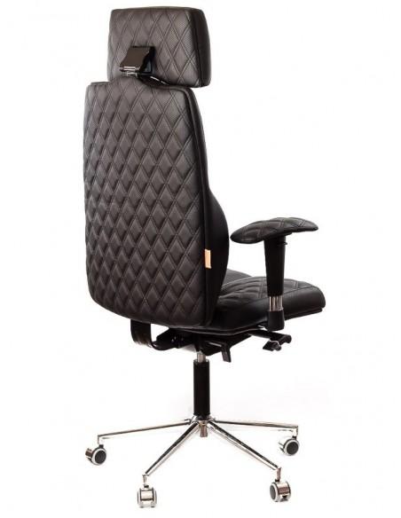 Кресло для руководителя, ортопедическое Kulik-System Business черное