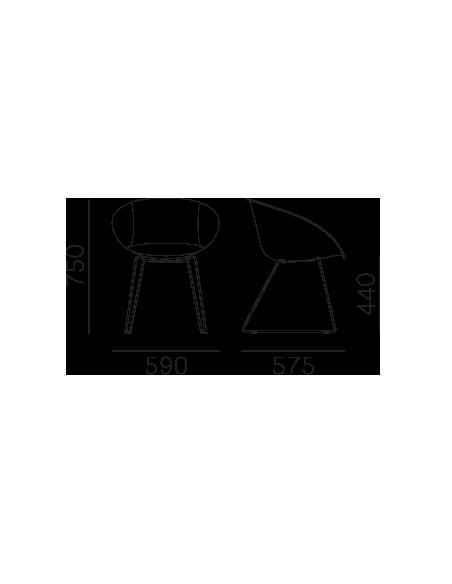 Стул PEDRALI GLISS 930 кожаное