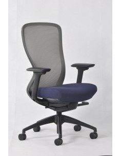Кресло KRESLALUX IN-POINT GREY-BLUE эргономичное