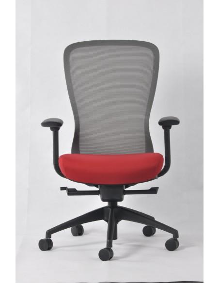 Кресло KRESLALUX IN-POINT GREY-RED эргономичное