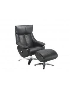 Кресло-реклайнер ALPHA 108, кожаное